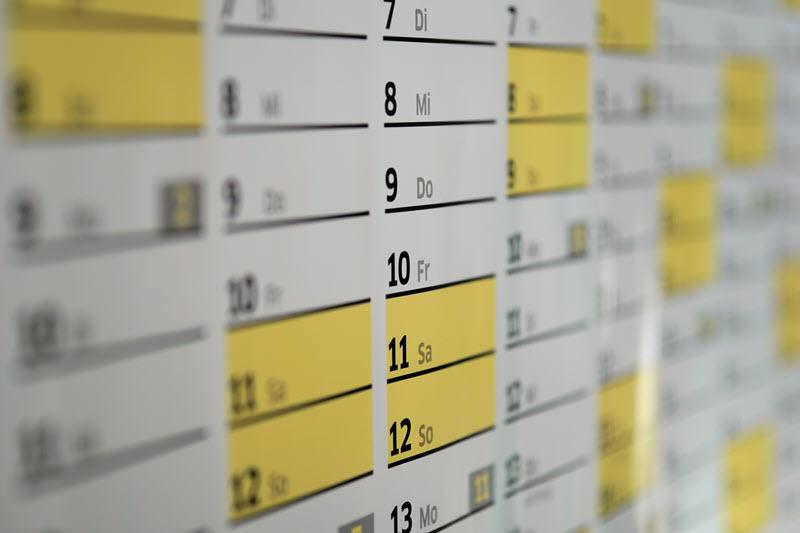 Eisprung im Kalender notieren